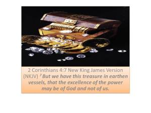 Treasurer 2 Cor 4 7